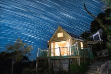 Star trails at The Hexagon